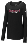 Nike Ladies Core Cotton Long Sleeve Scoop Neck Tee - ATHLETIC