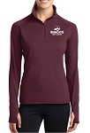 Sport-Tek Ladies Sport-Wick Stretch 1/2-Zip Pullover - ATHLETIC